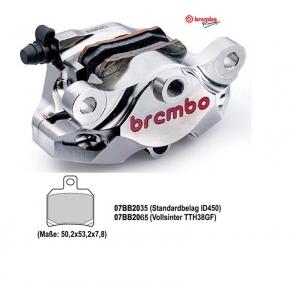 Brembo P2/34 Bremszange hinten Supersport nickel