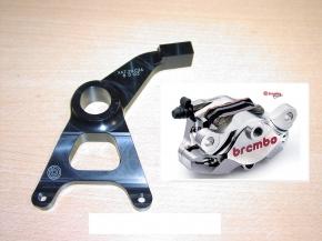 Brembo P2/34 CNC Bremszange hinten Nickel Supersport inkl. Halter