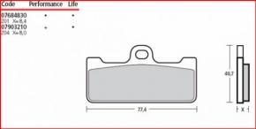 Brembo Bremsbelag M029Z04 für GP4RR