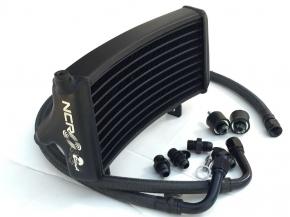 NCR Ölkühlerkit 2 Ventiler new style schwarz links verlegt