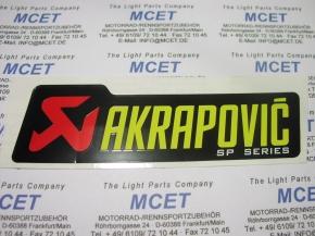 Akrapović Aufkleber SP Serie neues Logo mitel