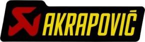 Akrapović Aufkleber neues Logo groß